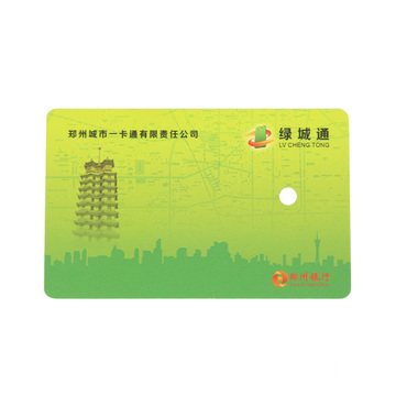 Promotional PVC business card with signature panel